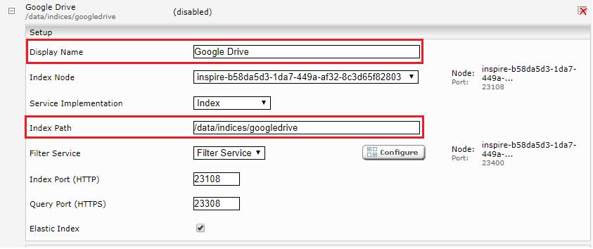 Configuration - Google Drive Connector
