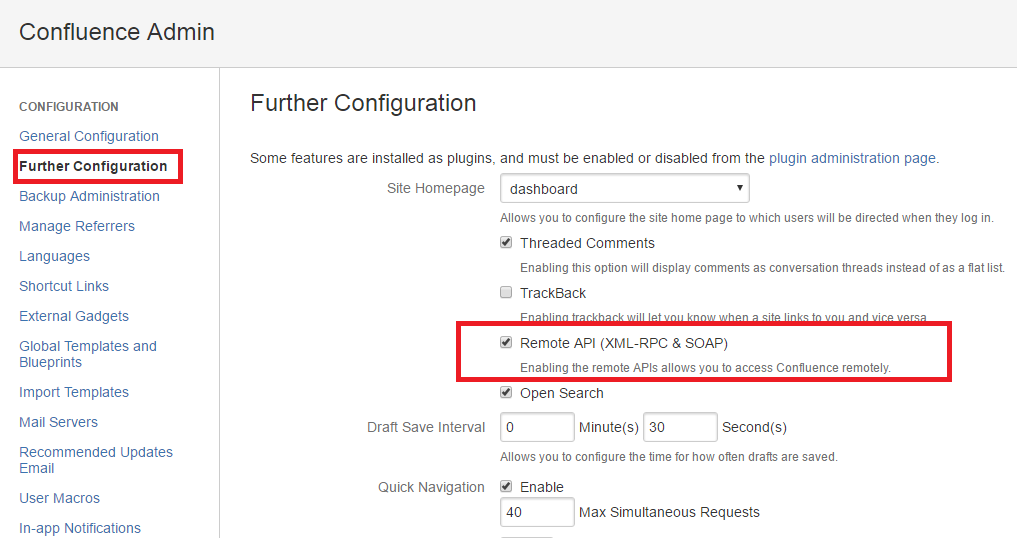 installation configuration atlassian confluence sitemap